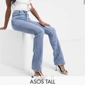 Endast prövade jeans från Asos Tall! Nypris är 439kr, Stl 28/36, jag skulle säga att det motsvarar 36 möjligtvis liten 38😃 Säljes eftersom dem tyvärr är för små. Kan skickas, är dock för tillfället osäker på vad frakten blir, eller möjligtvis mötas upp i Stockholm☺️