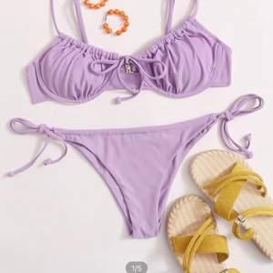 As snygg bikini från Shein, med justerbara band. Säljer för den var för liten på mig, annars super bra material! Aldrig använd. Köparen står för frakt!