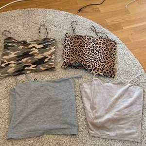 4 stycken snygga linnen från Gina Tricot. ❌endast 2 kvar❌Alla är i storleken s och är i fint skick. Är man inte intresserad av alla är det inga problem. Köparen står för frakten