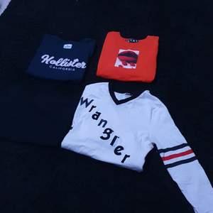 Olika tröjor blandade, paketpris 100kr, styckepris ca 20kr, kom med bud annars, storlekar xs/s