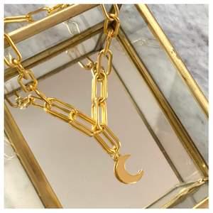 Populärt guldhalsband med måne som passar till allt! För endast 110kr med fri frakt! 🧸✨