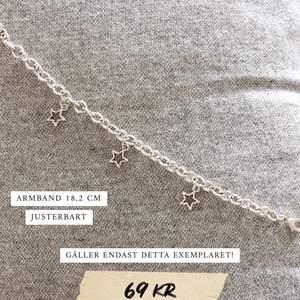 Armband med stjärnor i silverfärg ✨ bara ett exemplar! Frakt 11 kr. Se fler modeller på insta: moon.jwlry 🌙
