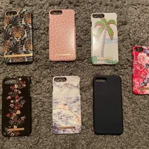 Säljer mina iPhone skal till iPhone 8 Plus (och ett till iPhone 6/7/8, det röda längst ut till höger) Säljer dem till bra pris då jag vill bli av med dem eftersom jag har en ny telefon och ingen användning för skalen. Öppen för bud vid köp av fler än 1 skal!  💗☺️