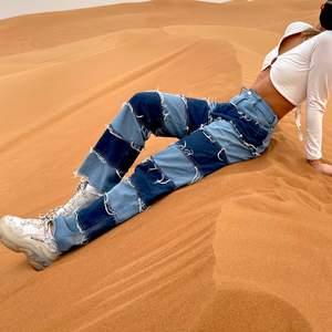 Lapp jeans från SHEIN. Bud i meddelande vid högt intresse. Pris diskuterbart
