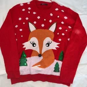 Oversized jul-tröja med tryck! Stickad tröja men ej stickig!