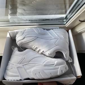 Chunky skor från Nelly i storlek 37 men passar 36 mer. Helt oanvända.