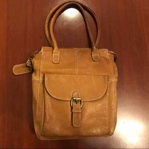 Leather bag in natural leather från Wera.  In fantastic condition.