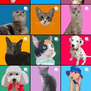 Tecknat porträtt av ditt djur!💖 Du får välja om du vill ha med hela kroppen eller bara ansiktet. Jag kan även göra små djur såsom hamstrar och kaniner för 30kr. Instagram: Selmas_digitalart