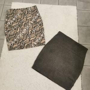 Säljer 2 kjolar i storleken S. Bra skick. 60 kronor styck eller båda för 80