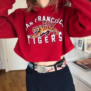 Säljer denna balla croppade hoodie från Urbanoutfitters. Super bra skick. Är storlek M/L, så den sitter perfekt oversize.