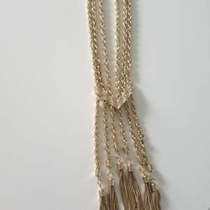 Bling guld halsband med strass aldrig använt