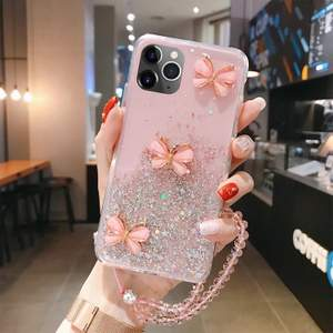 Pink butterfly case for iPhone 11 pro. Fraktkostnad: 24kr som brev /eller 51kr spårbart!