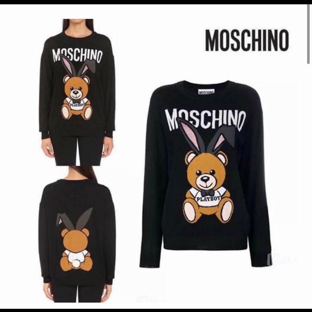 Moschino sweatshirt (sweatshirt material), äkta. Nypris runt 6000kr. Bud från 600. Tröjor & Koftor.