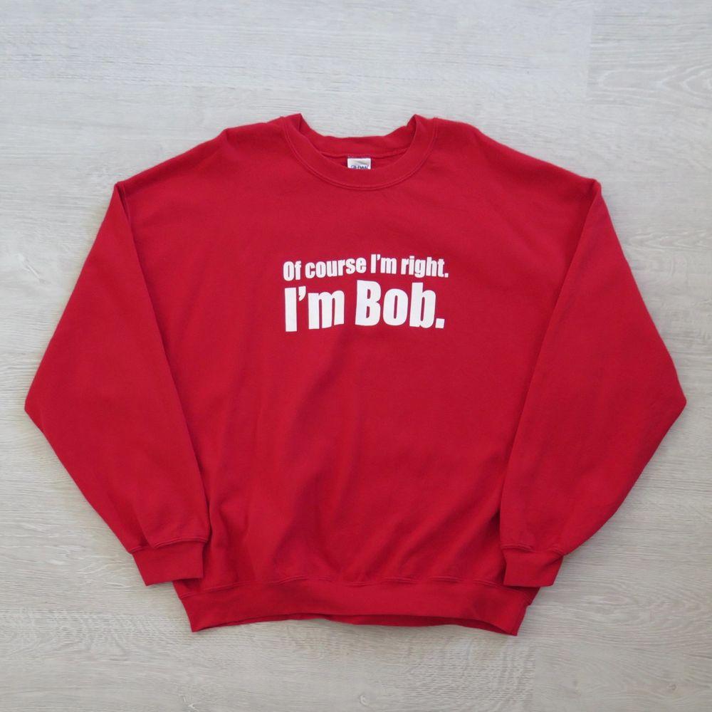 Bob röd sweatshirt strl XXL.  Passar bra som oversize om man har mindre strl :) 66 kr spårbar frakt.  Skicka meddelande vid frågor/fler bilder! Notera att små defekter kan finnas då den inte är ny. Större brister nämns tydligt i annonsen/visas på bild. OBS! Bud är bindande!!!!!!! . Huvtröjor & Träningströjor.