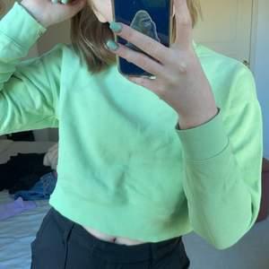 Grön sweatshirt från monki. Något kortare i modellen. Fin att ha över en skjorta. Köpare står för frakt!