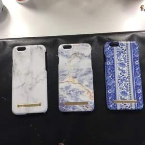 Vit marmor, grå marmor och ett blått mobilskal med mönstringar❤️Ett mobilskal för 20kr eller alla för 50kr plus frakt❤️