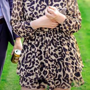 En jättefin leopardklänning från Sisters point i storlek S!