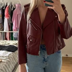 Zara leather jacket size L