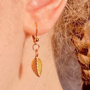 Såååå söta örhängen med guldiga 🍂. Gjort dem själv🥰 nickelfria såklart! Skriv privat till mig om du är intresserad💓 35kr plus 12kr i fraktkostnad💛 säljer inte paret på bilden då jag använt dem men det paret jag säljer ser precis likadana ut!!
