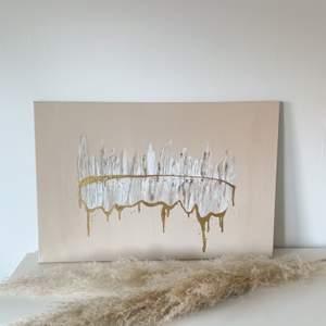 Handmålad tavla✨ canvas med akryl färg storlek 60x40, köpare står för frakt 🥰