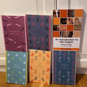 Kända engelska böcker med olika författare, penguin english library och introduktion till det gamla språket! I nyskick aldrig lästa kan fixa fler bilder, 150st eller paketpris
