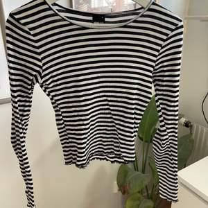 säljer denna superfina långärmade tröja som är väldigt trendig just nu! sparsamt använd och i bra skick. sitter jättefint!!