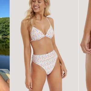Säljer detta söta bikini set som aldrig är använt! Väldigt stretchig och så fin nu i sommar💗 både överdelen och bikitrosan är i storlek s, säljer båda för 150kr annars 100kr styck💗 skriv gärna gör fler bilder!!!