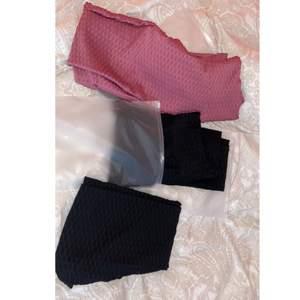 HELT nya träningsthights från Noxy leggings!! Dessa är aldrig använda endast testade. 150 kr styck eller alla för 400!! Formar benen & rumpan så fint!! 2 svarta & ett par rosa