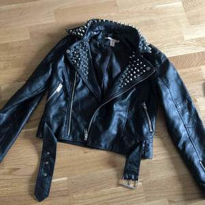 Leather jacket with studs size small / 36