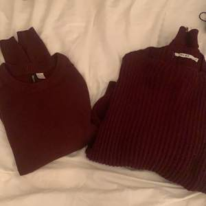 2 vinröda tröjor! En från HM och en från NAKD! Båda för 100kr + 66kr frakt!😍 Kolla gärna mina andra annonser, kan samfrakta upp till 1 kilo😍💕 Skriv för separata bilder på tröjorna!