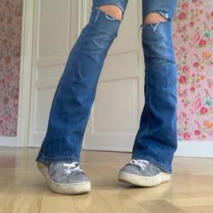 Ett par såå sköna bootcut byxor med snygg färg och går perfekt över skorna. Jag är 172 vem och de är sällan de lägger sig såhär snyggt. Dethär är lite av en intressekoll på vad folk är beredda att betala. Har används en gång + denna photoshoot. Säljs pga inte kommer till användning. 💞💞 skriv privat om ni är intresserade! Sitter perfekt på mig som har st 36 med 27 i midjan. Börja buda privat!💕💕 start bud: 150kr
