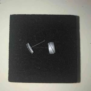 Örhänhängen i kirurgiskt stål. Använda ca 5 gånger. Köparen står för frakt,kan mötas upp.
