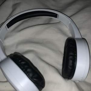 vita fina bluetooth hörlurar, funkar jättebra och har endast använts någon enstaka gång!🥰