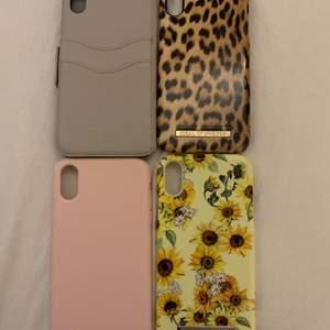 Säljer mina iphone XR skal eftersom jag har skaffat en nu mobil! Alla förutom de rosa är från ideal of sweden. Säljer de för 100kr/st eller 150kr för 2 stycken (300 för alla)! Den rosa har 2 väldigt små sprickor som verkligen inte syns (skriv dm för bilder) och samma med den beigea (skriv du för bilder). De andra är helt felfria! ✨✨             KÖPAREN STÅR ALLTID FÖR FRAKTEN.