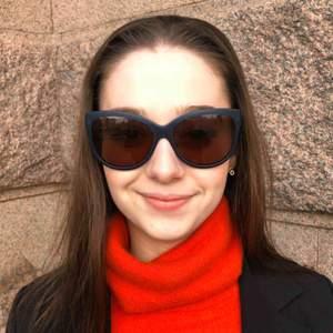 Max Mara orange and navy blue sunglasses. Never worn, no case.