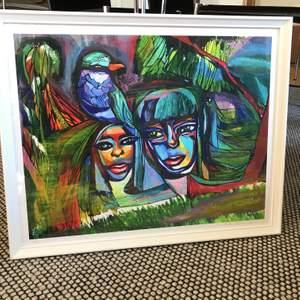 """Julklappstips🎄🎁  Målningen """"Companions"""" gjord i akryl.   Säljes i storlek 40 x 50 för 600 kr inklusive frakt. Signerade upplagor.  Ram ej inkluderad.  Kolla in min Instagram @nelfi_art för att se fler utav mina målningar🤗✨"""