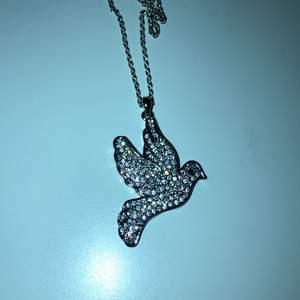 Ett skit snyggt fågel halsband med diamanter på 💎