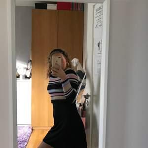 En randig långärmad tröja från monki som jag här har över ett nattlinne från Lindex, så att den blir som en kjol, super fint tycker jag, båda är i nyttskick. Båda är i storlek s.     Nattlinne: 90kr.   Tröja: 90kr.   Tsm: 160kr