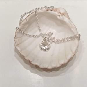 Snäckhalsband i silverfärg ✨ finns även matchande örhängen till! Finns flera exemplar. Se mer på insta: moon.jwlry 🌙✨