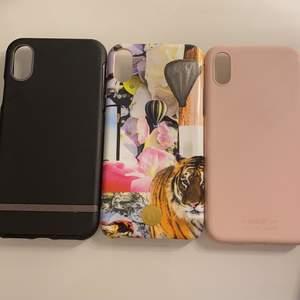 Säljer dessa fina skal till iPhone X, första skalet (bild 2) säljer jag för 50kr, de andra två skalen (bild 3) säljer jag för 100kr st. Frakten är 22kr