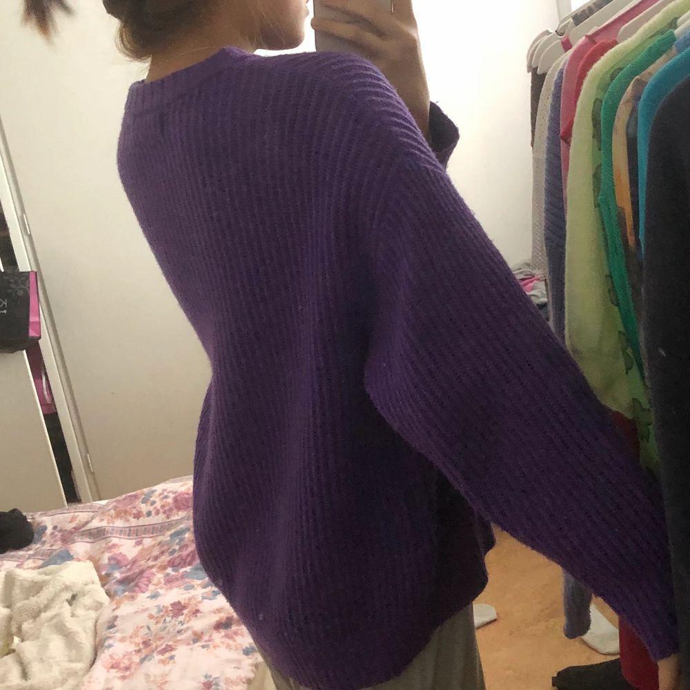 Fin lila stickad tröja ❤️ definitv oversixed. Stickat.