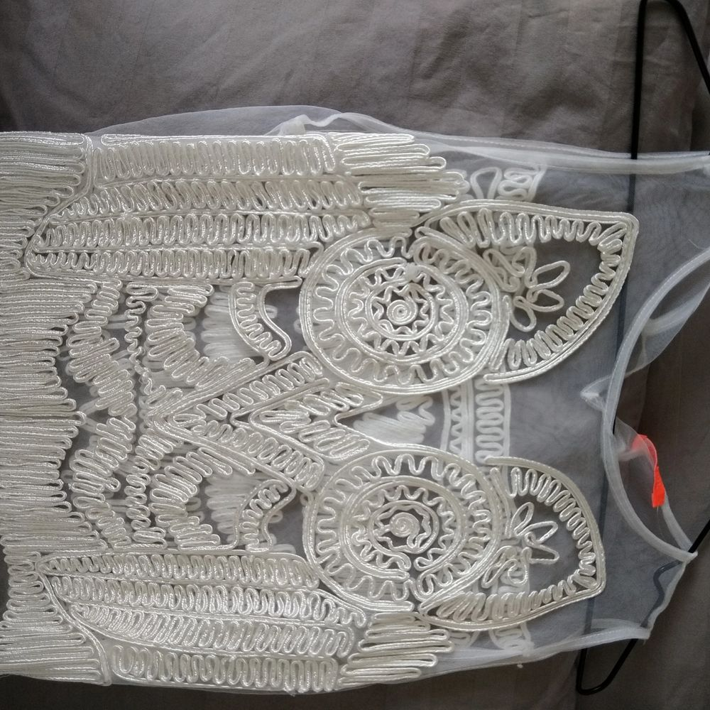-Size M   -height 165   -brand : Banjul   -clean and in good condition   - elegant white with detailed which stitches  -suitable for beach or swimming pool  pick up or by post.   Buyer will pay the cost of post. Pick up is free  pick up place ( Stockholm) : universitad station / techniska hogskolan station / Danderyd Sjukhus station / Vaxholm centrum / any stop of bus 670  please feel free to message me for details  Cecilia   . Klänningar.