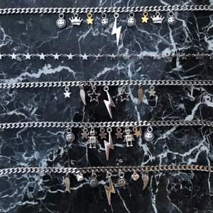 Nu finns dessa halsband till salu av en tjockare kedja med materialet rostfritt stål. Det finns bara ett visst antal till salu så det är först till kvarn som gäller! Halsbanden är justerbara❤️  - 135kr (FRI FRAKT) 🥰  (min instagram @alvas.z)