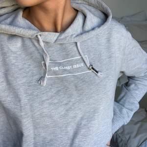 Säljer en grå The Classy Issue hoodie i storlek S.  Bra skick, frakt tillkommer 🖤
