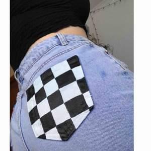 Reworked Jeans storlek S (36)