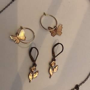 Örhängen och ett halsband! Skriv till mig för priser :))💕 sälj separat och tsm