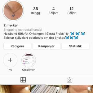följ gärna min sida på Instagram, z.mycken för mer smycken🦋🦋🦋