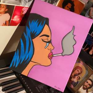 """""""Pop art"""" tavla som jag målat själv :) Kan mötas i Stockholm och kan även fraktas! Köpare står för frakten"""