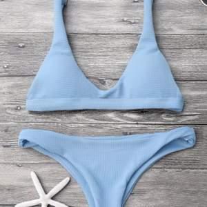 supersöt ljusblå bikini från zaful! endast testad på och tvättad en gång! Superfin och väldigt bra kvalitet! Köparen står för frakten!❣️