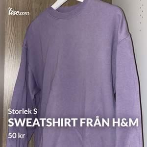 Fin sweatshirt från h&m i storlek S. Sparsamt använd och i fint skick. Frakten blir 50kr 😊